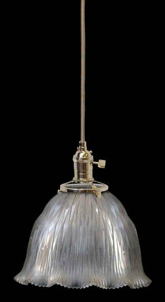 Ribbed Holophane Antique Glass Shade