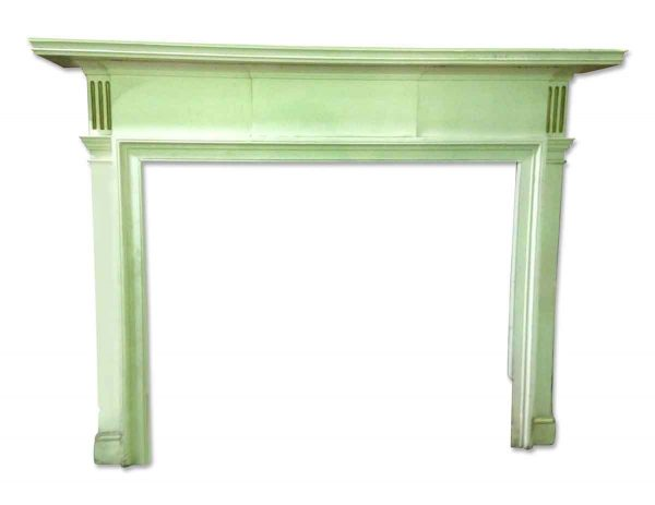 Small Wooden Federal Mantel with Simple Design