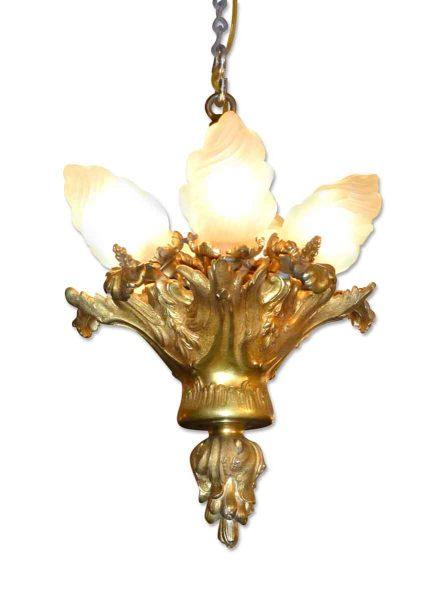 Dore Bronze Torchiere Pendant Light