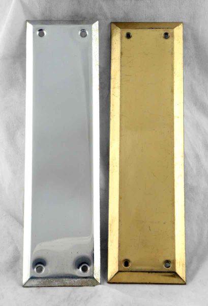 Modern Brass Push Plate