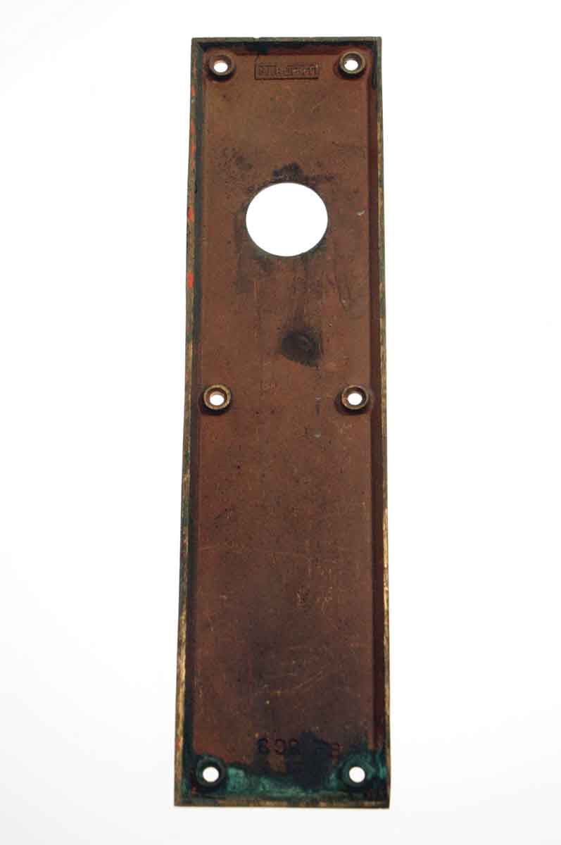 Sargent Push Plate With Lock Insert Olde Good Things