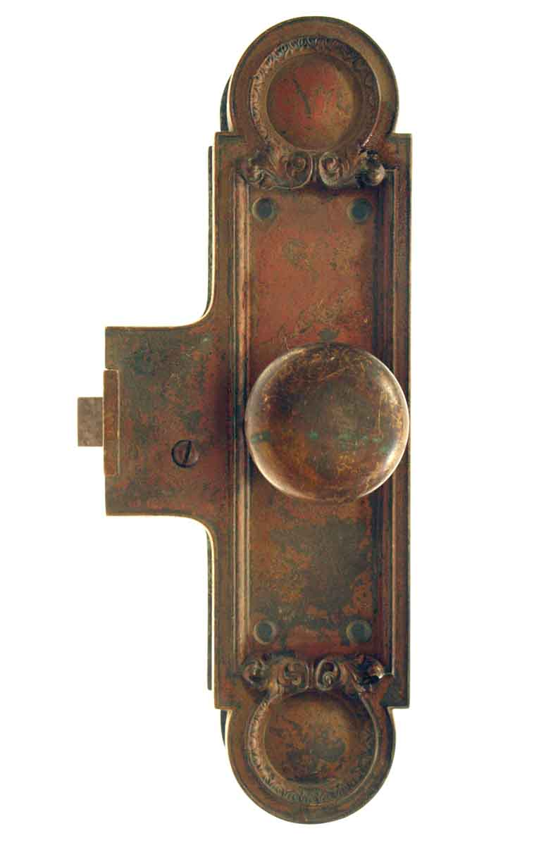Victorian Cast Bronze Unit Lock
