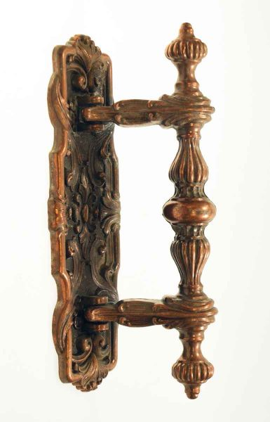 Ornate Copper Plated Door Pull