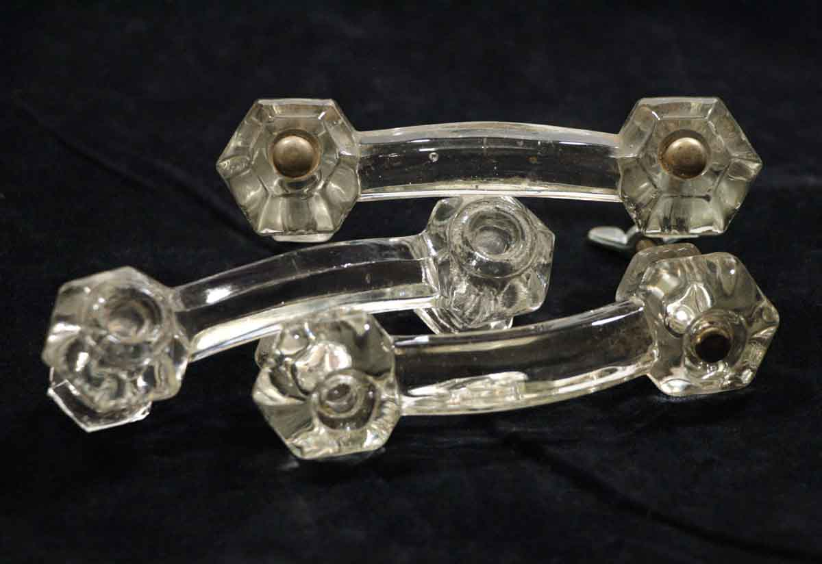 Set of 10 glass drawer pulls olde good things Glass furniture pulls