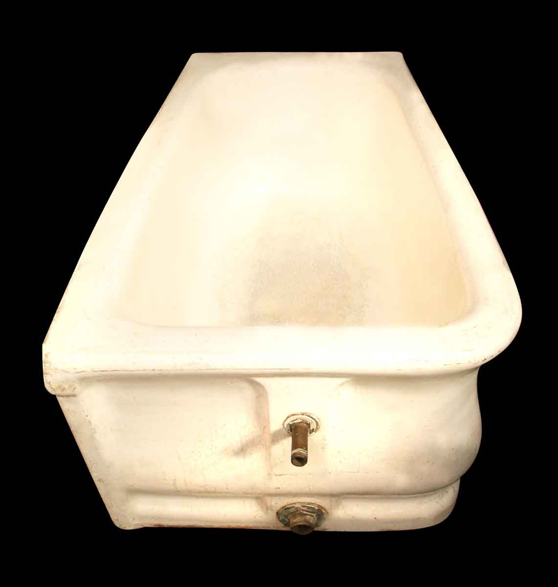 Beautiful Earthenware Skirt Tub with Crazed Porcelain Glaze