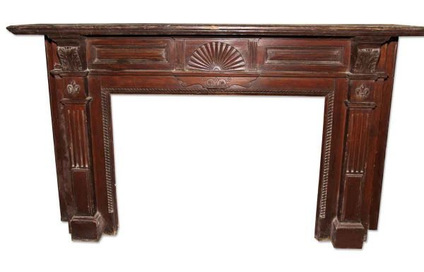 Wooden Mantel with Dark Finish