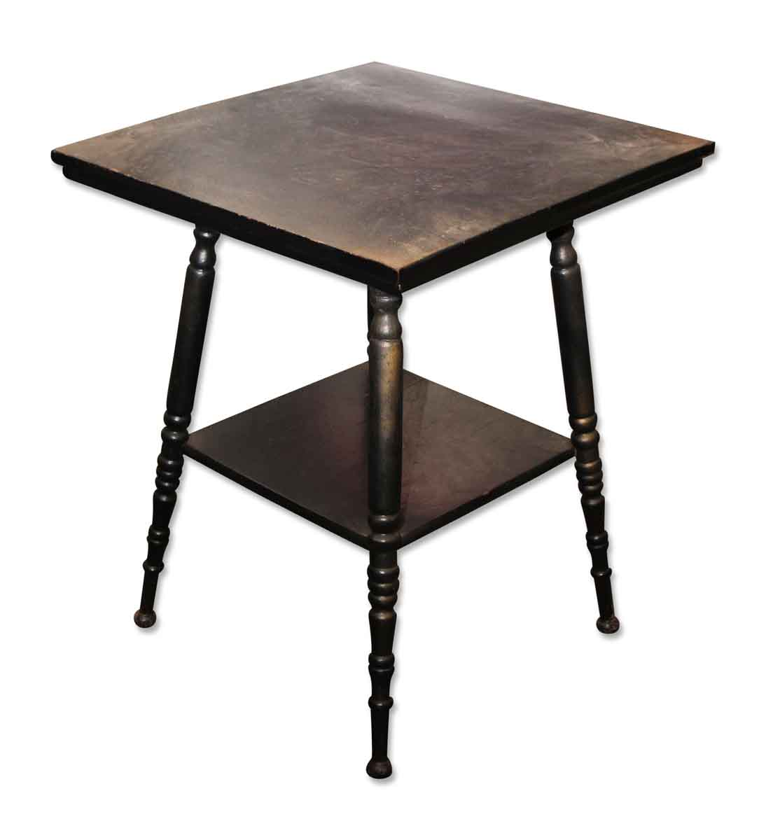 Dark Black Wooden Table