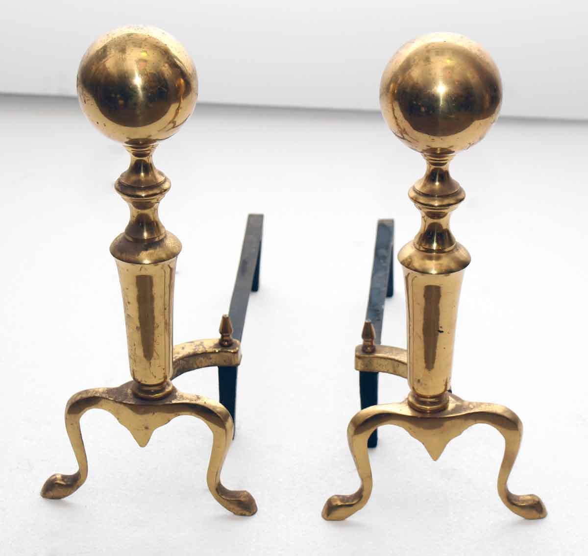 Cast Brass Quality Replica Andirons