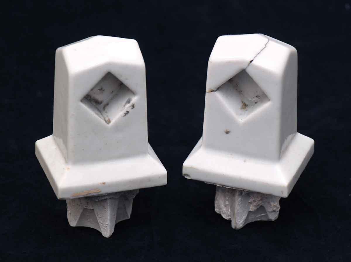 Flush Porcelain Towel Bracket Set
