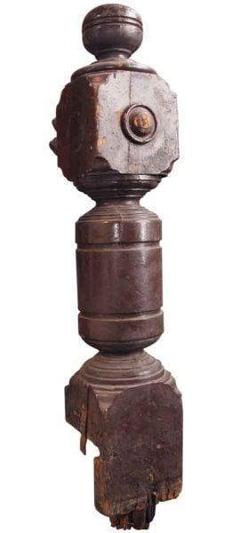 Antique Solid Newel Post