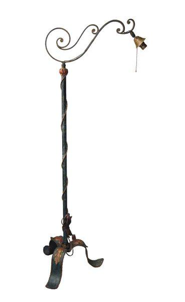 Antique Original Bronze Floor Lamp
