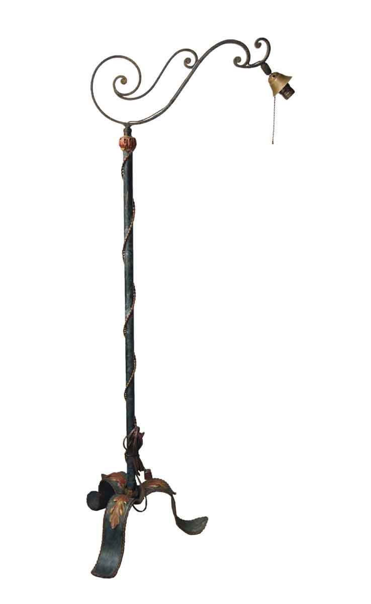 Antique Original Bronze Floor Lamp