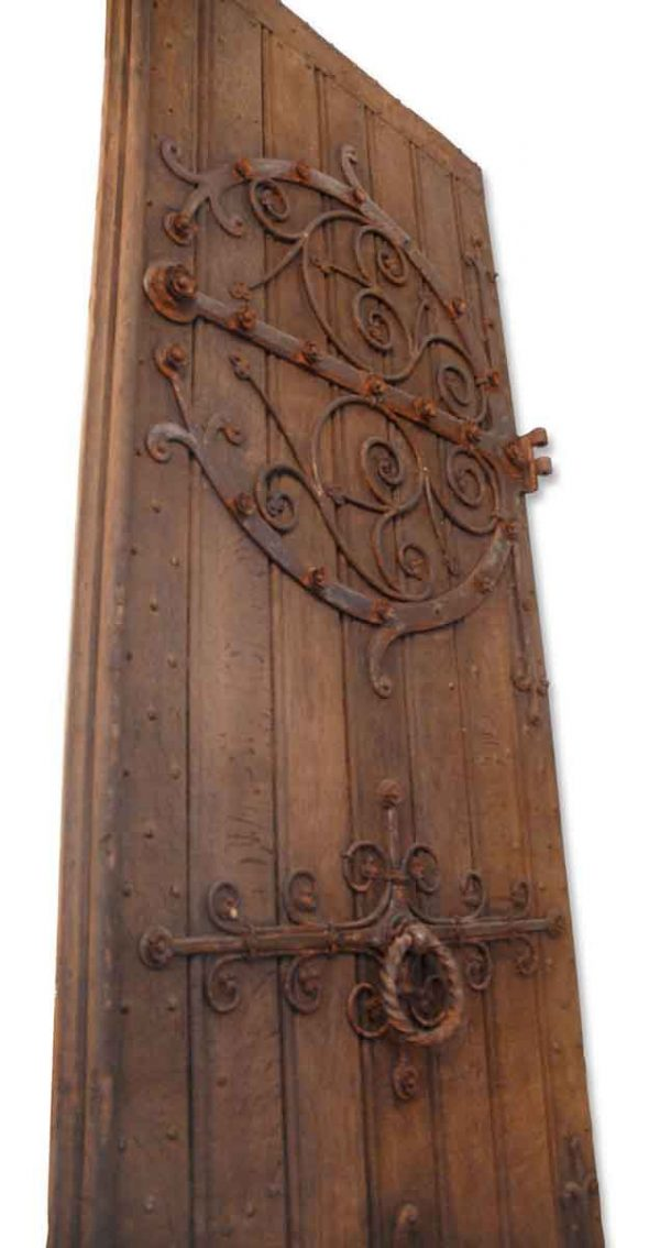 Huge Castle Doors from Amsterdam with Iron Scrollwork