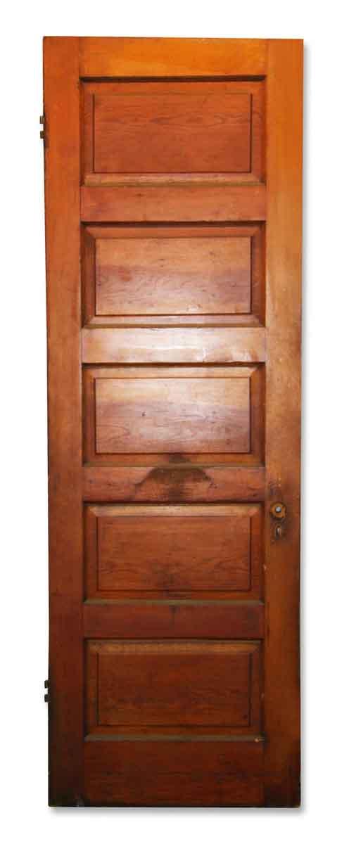Antique Five Panel Interior Stained Door