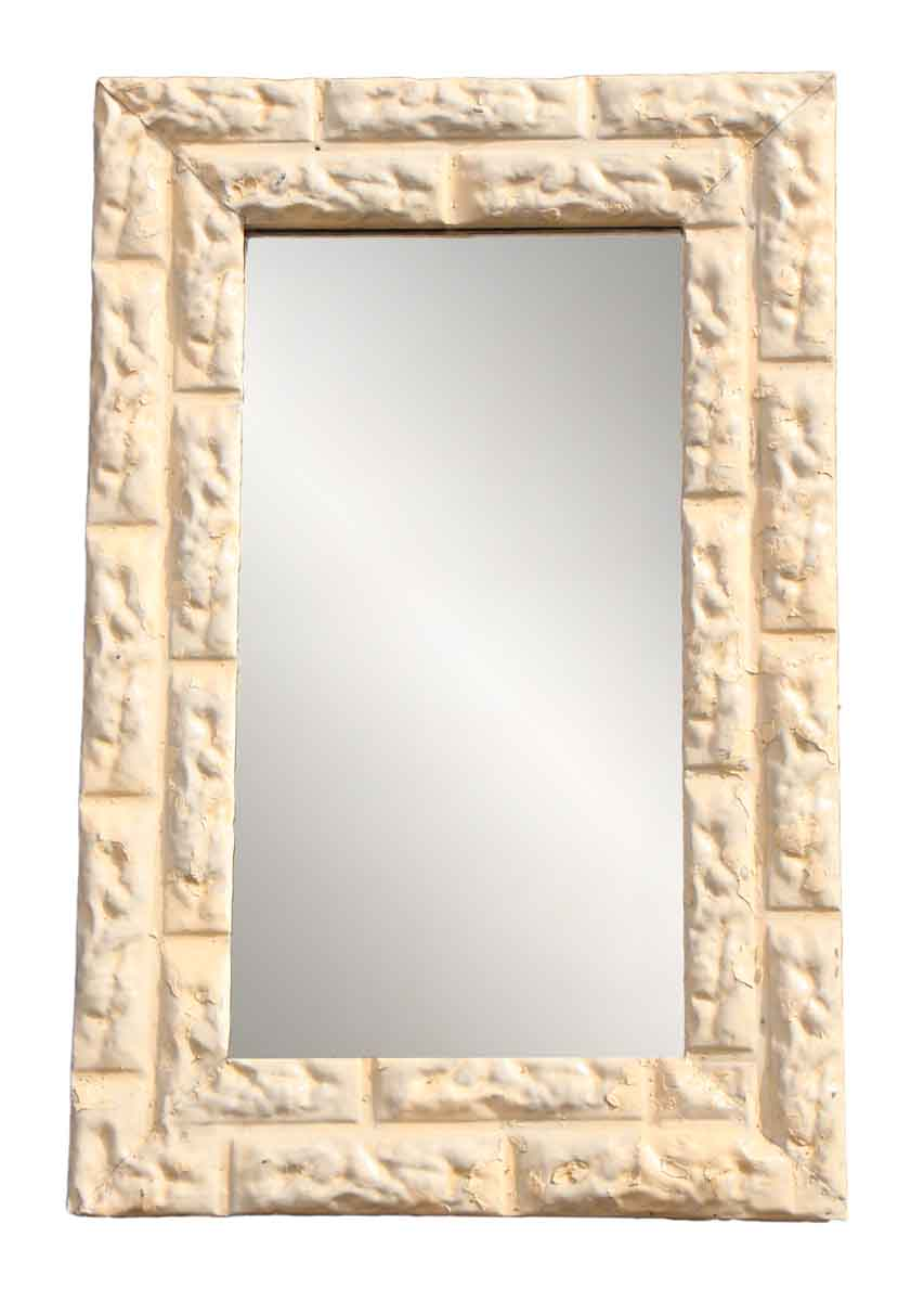 Brick Pattern Ceiling Tin Framed Mirror