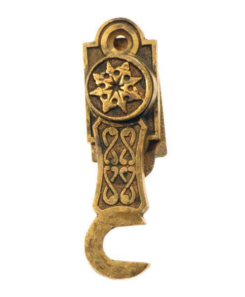 Unique Star Bronze Ornate Shutter Latch