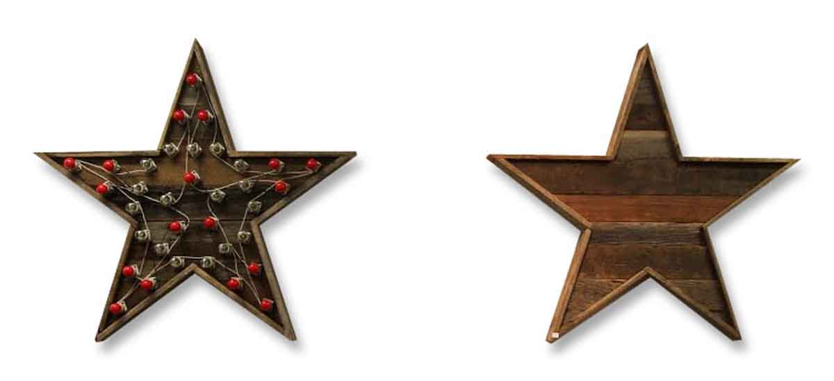 Wooden Blinking Star Light