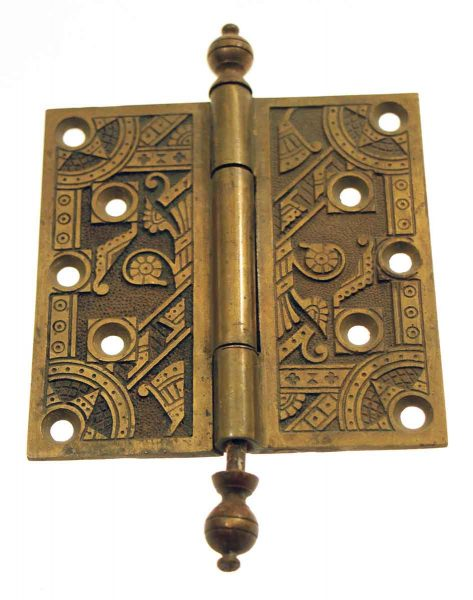 Windsor Ornate Brass Hinge