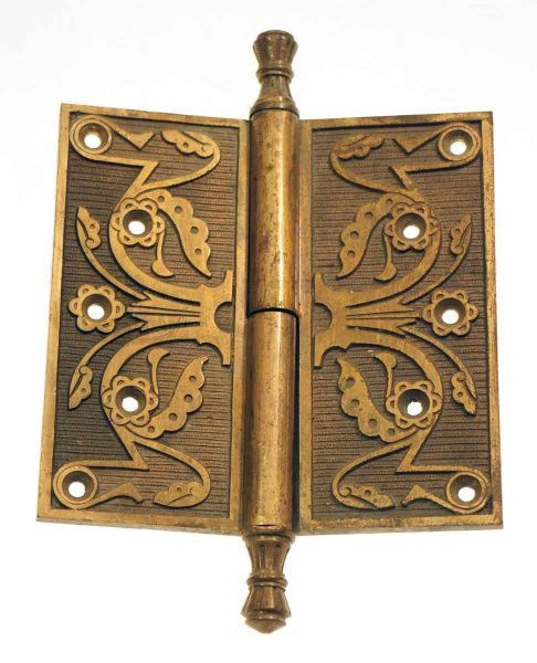 Solid Brass Ornate Brass Hinge