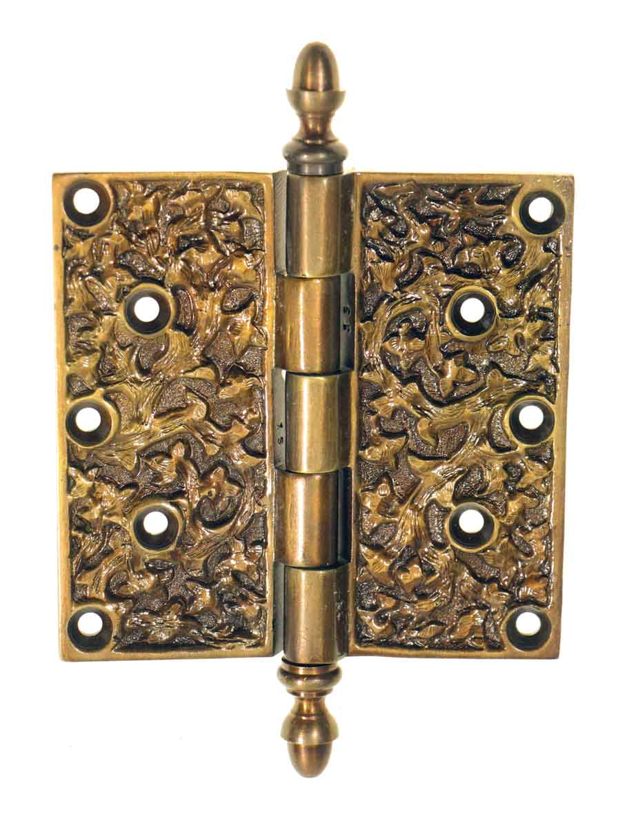 Ornate Bronze Hinge with a Rare Pattern