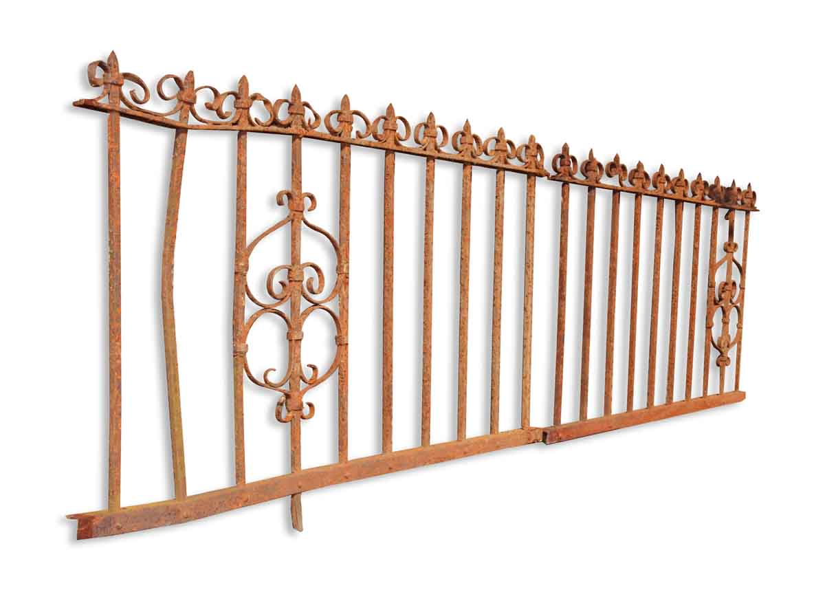 Short wrought iron fence olde good things