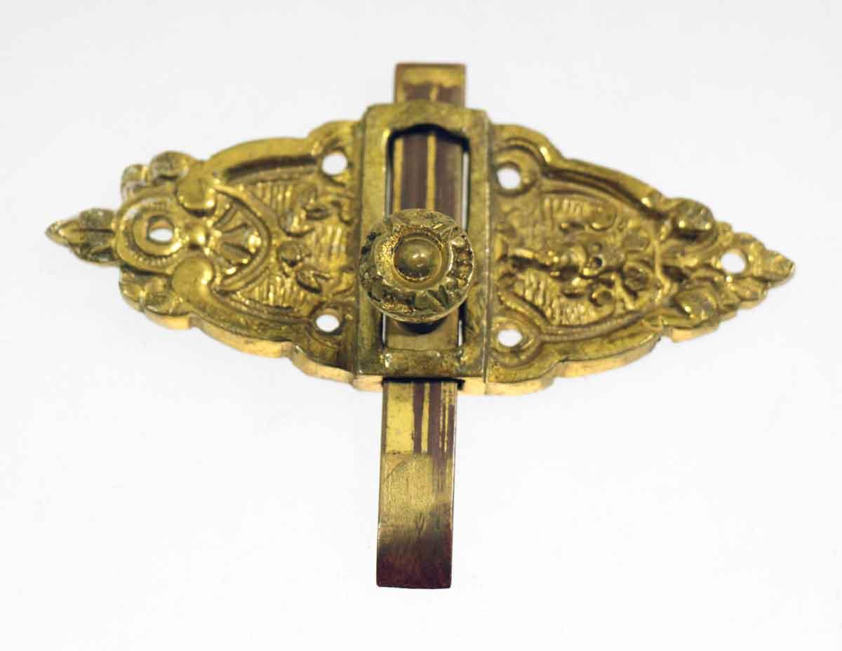 Brass Plated Ornate Door Bolt