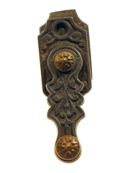 Bronze Ornate Shutter Latch with Brass Detail