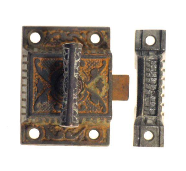 Antique Cast Iron Ornate High Profile Cabinet Latch