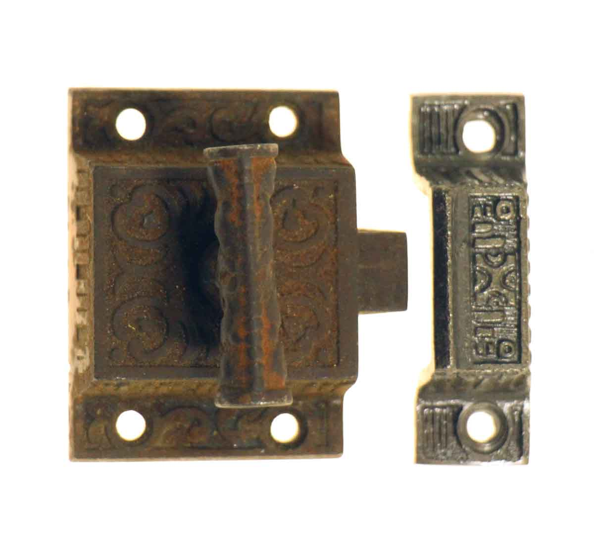 High Profile Ornate Cast Iron Cabinet Latch