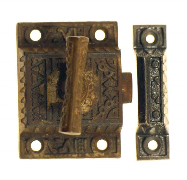Antique Cabinet Latch with Cast Iron Handle