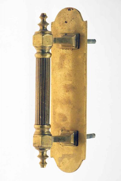 Solid Brass Door Pull with Fluted Handle