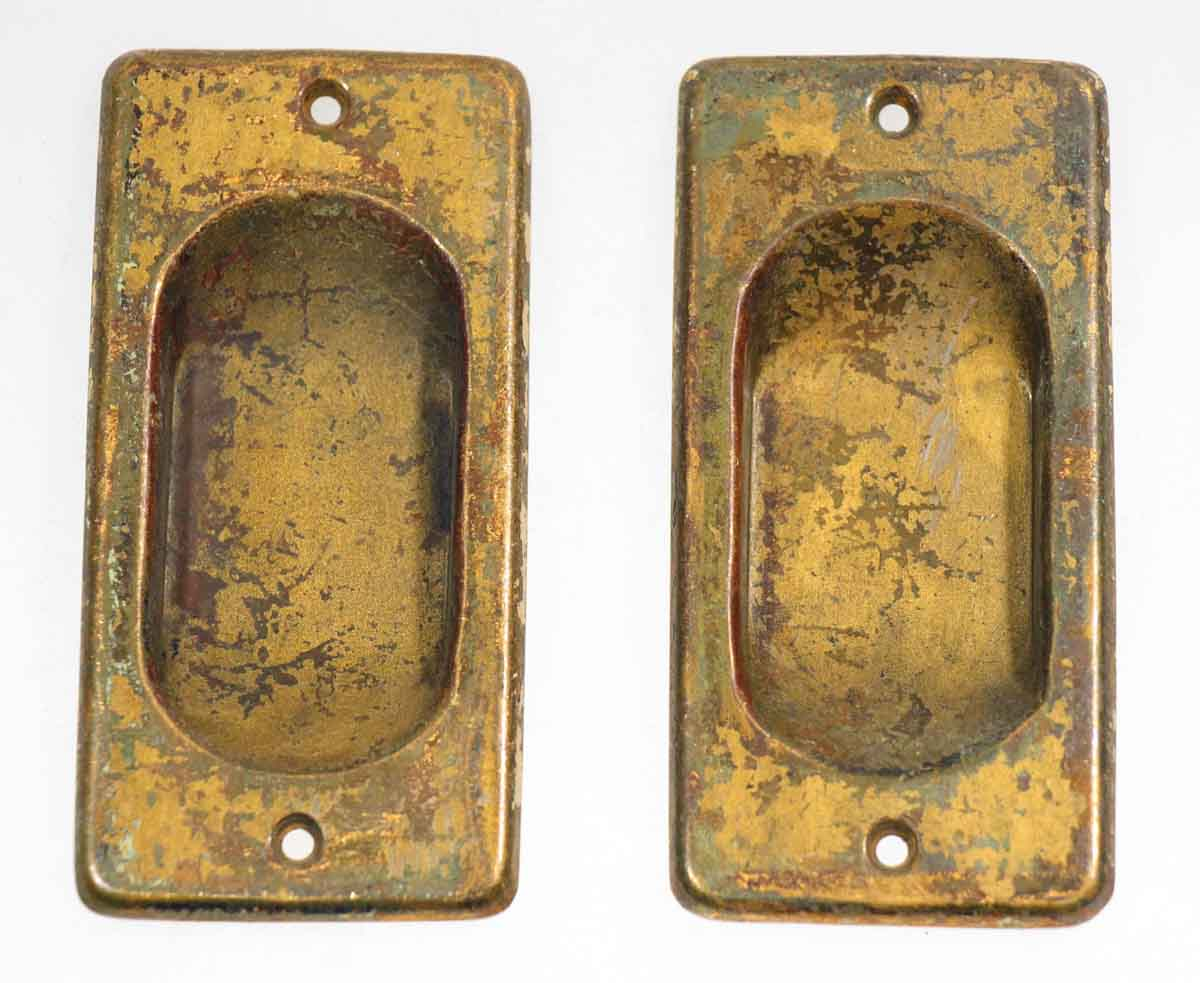 Pair of Brass Sash Lifts