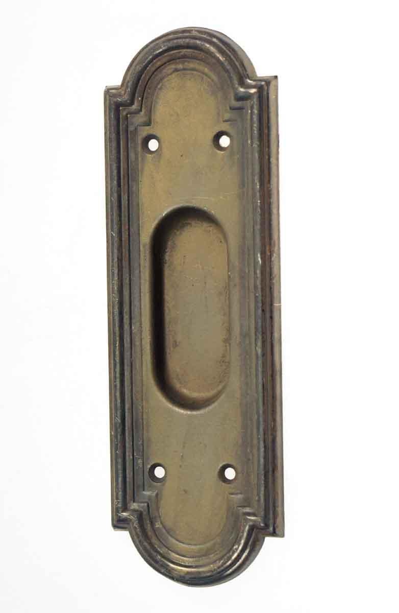 Antique Pressed Brass Pocket Door Handle