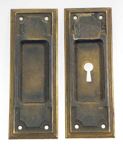 Art Deco Bronze Pocket Door Handles