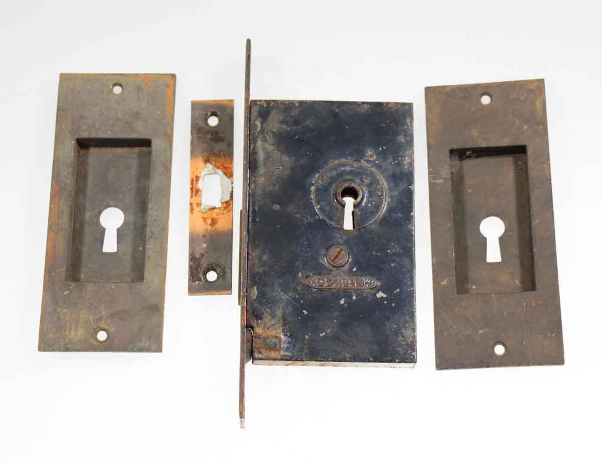 Pocket Door Handle & Lock Set