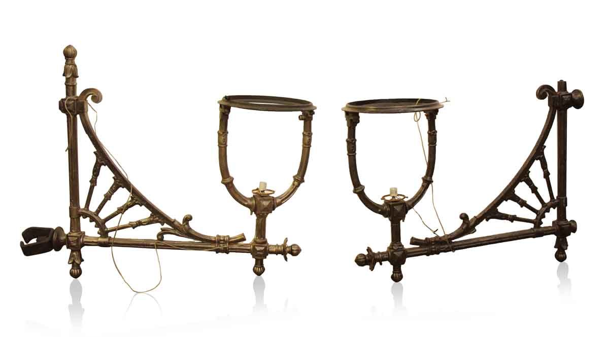 Antique Pair of Iron Sconces