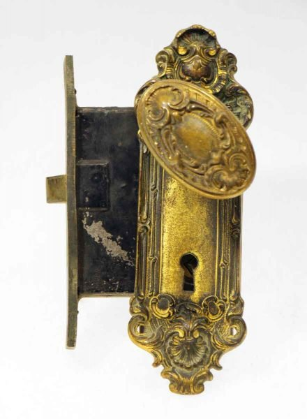 French Bronze Mortise Lock Set