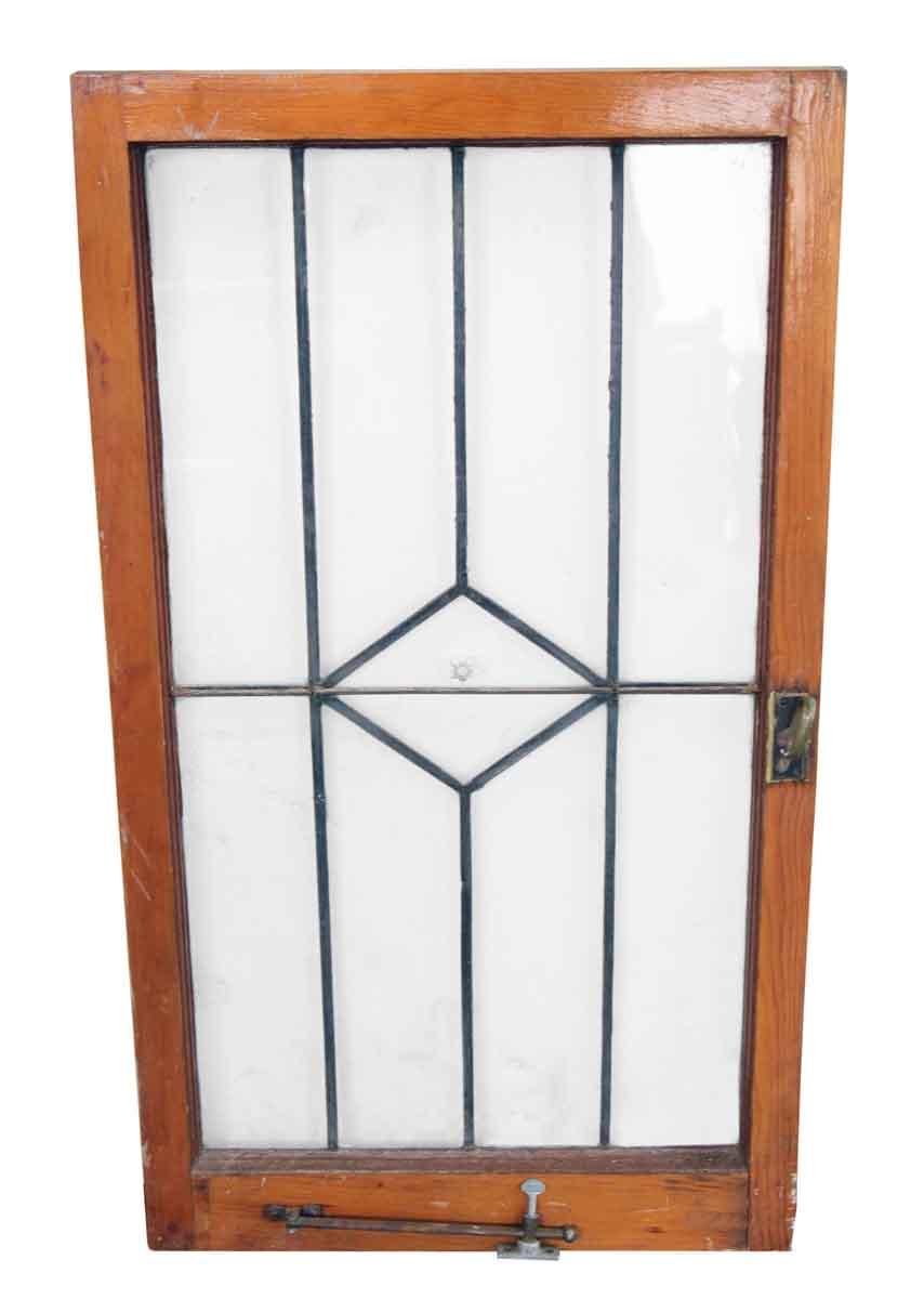Simple Original Leaded Glass Window