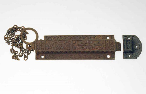 Bronze Floral Chain Latch