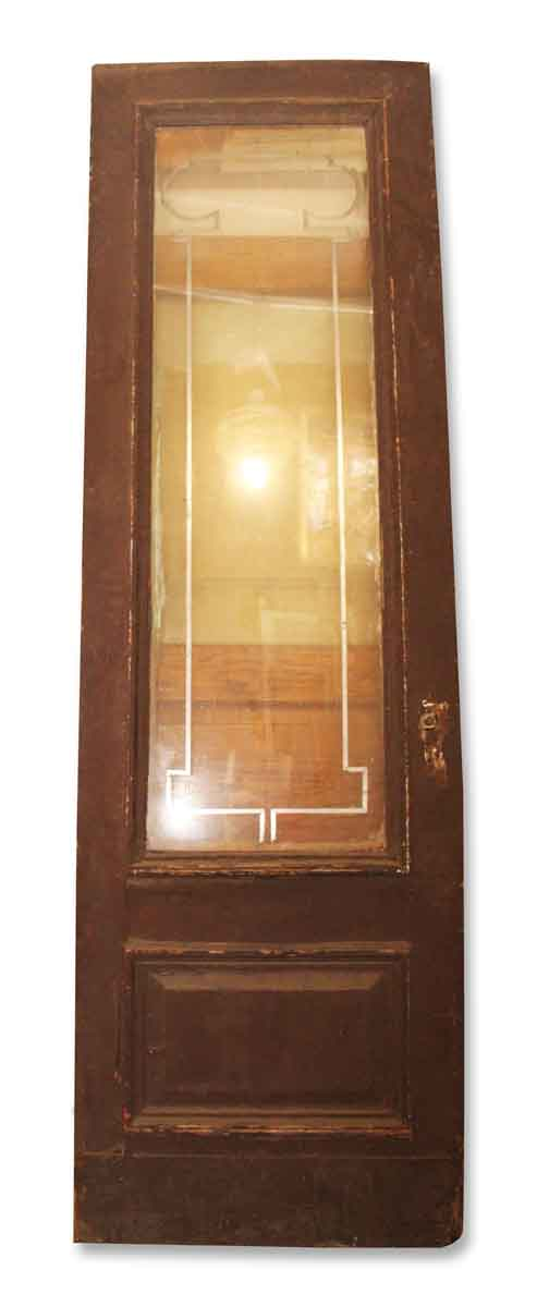 Tall Antique Wooden Door with Glass
