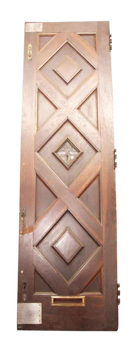 Pair of Diamond Design Entry Double Doors