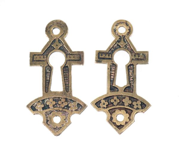 Set of Two Ornate Eastlake Style Keyhole Covers