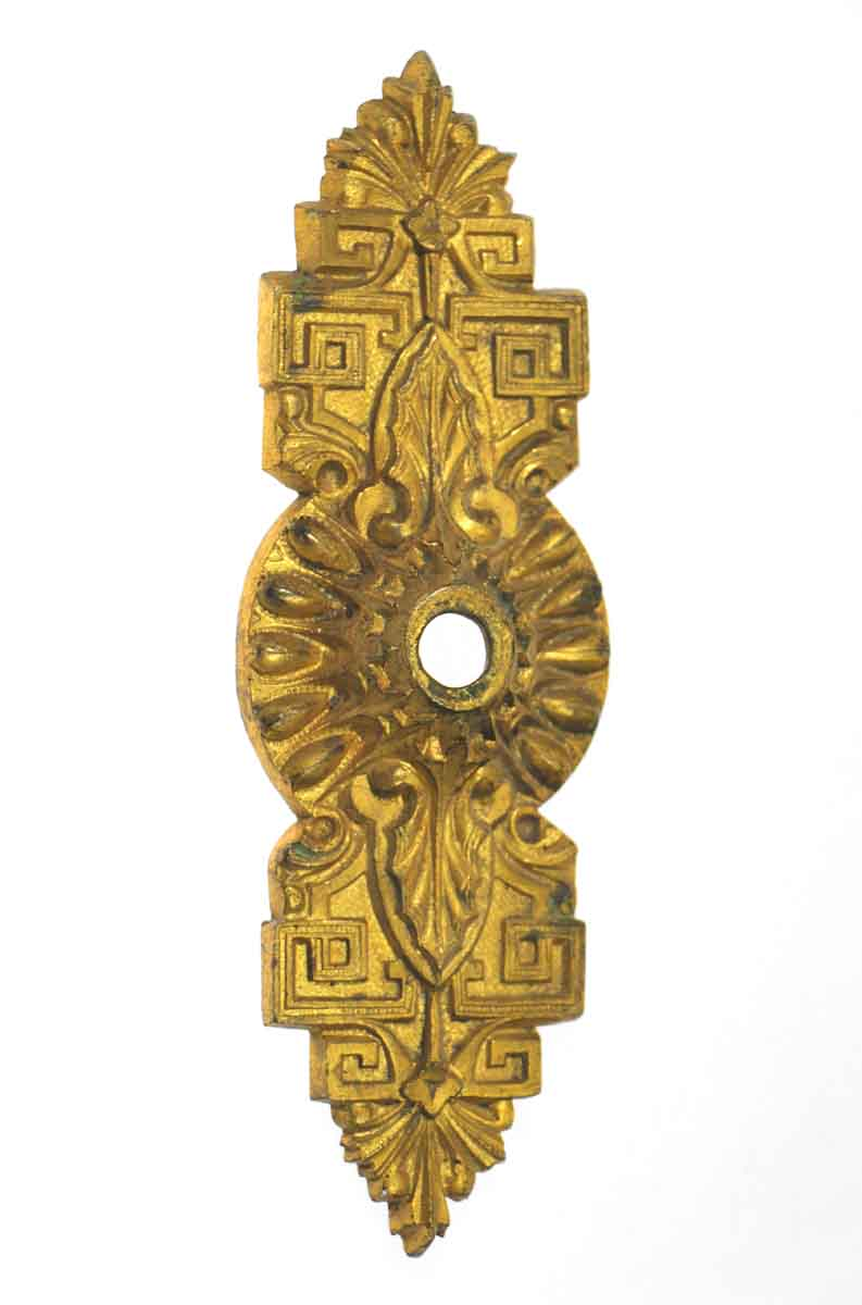 Brass Ornate Decorative Doorbell Cover