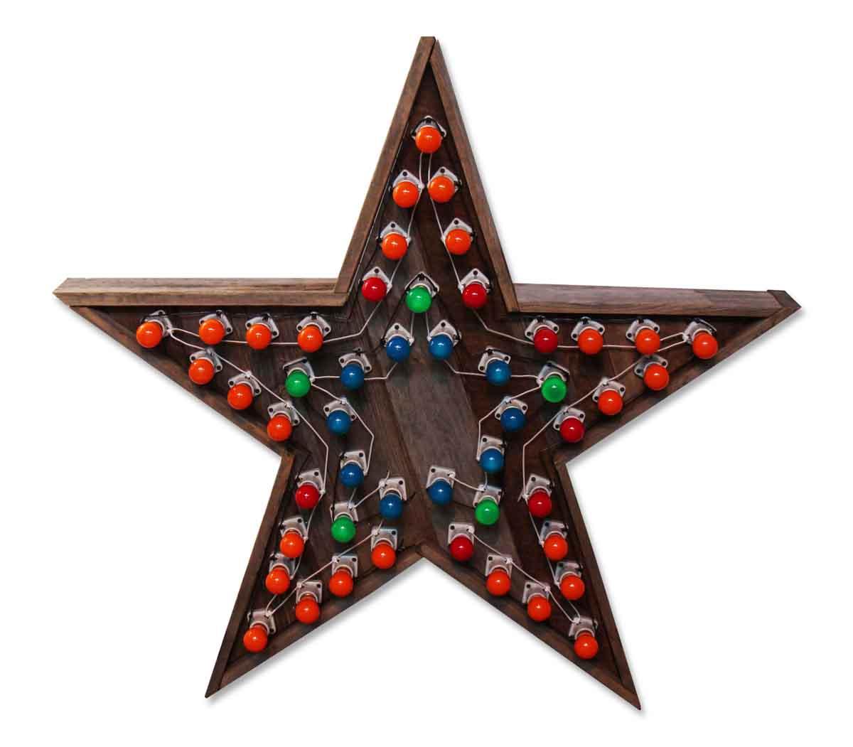 Wooden Multi Speed Star Light