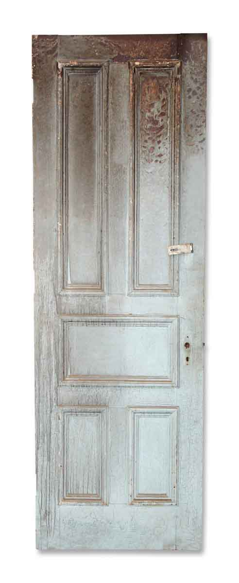 Blue Crackled Interior Door