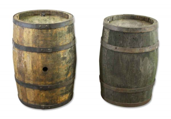 Antique Oak Wine Barrel Set