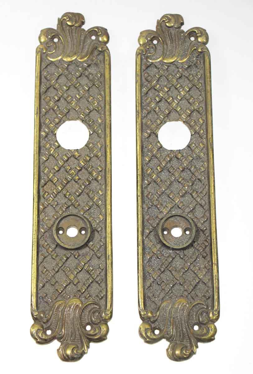 Set of Two Art Nouveau Decorative Plates