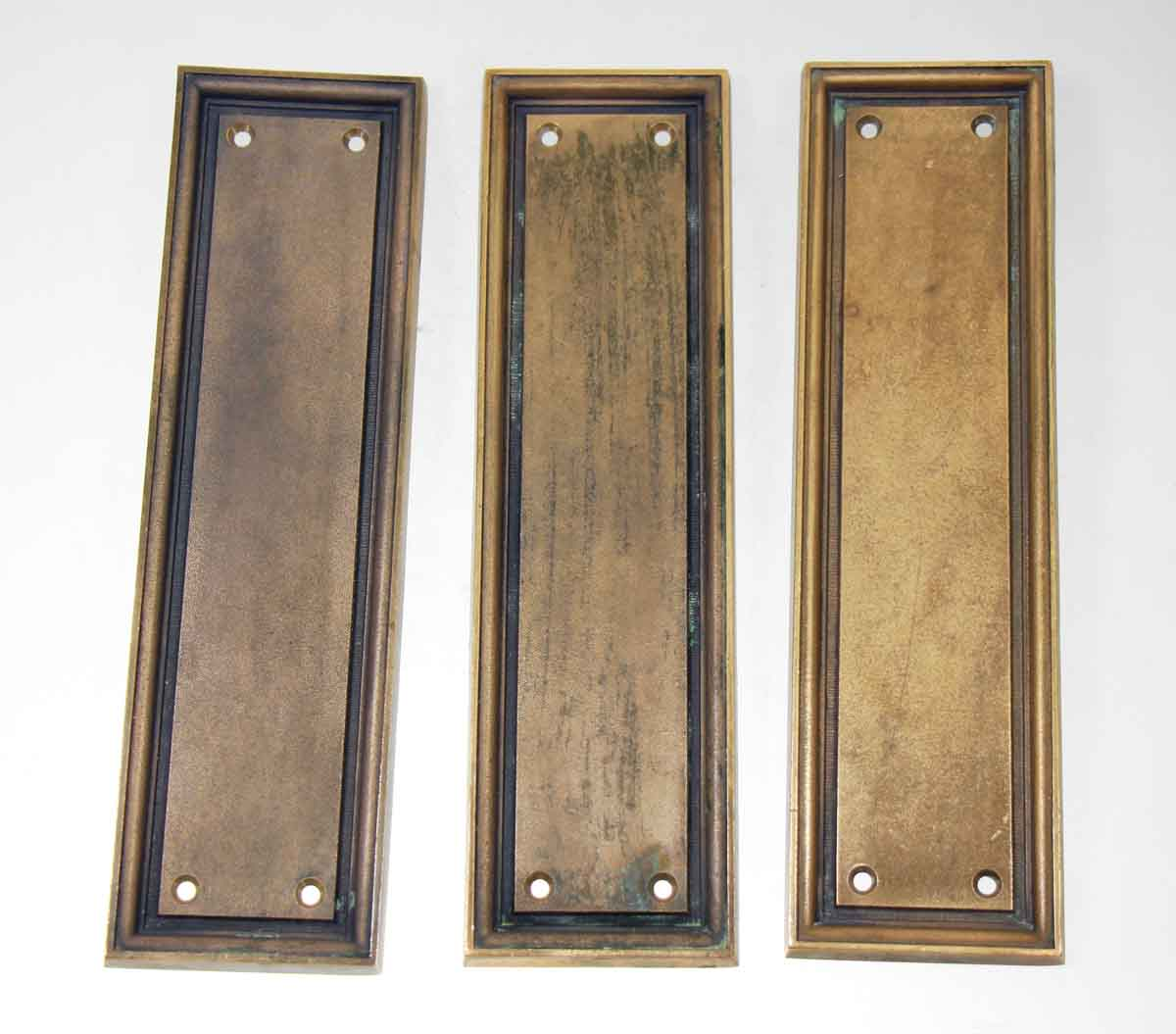 Cast Bronze Push Plates with Simple Lines