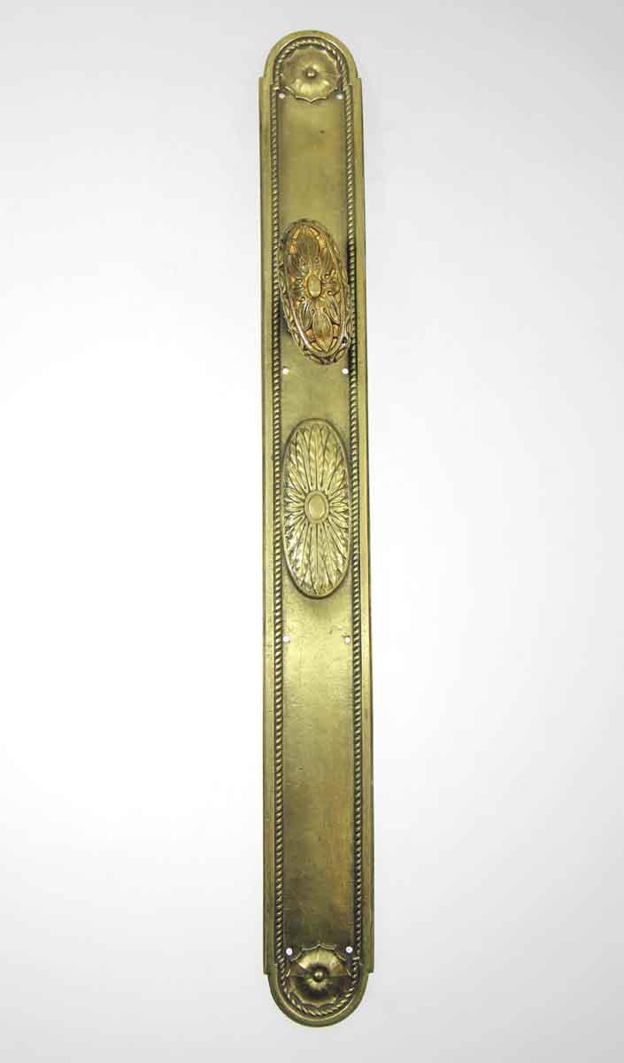 Brass Oval Knob & Plate Set Extra Long