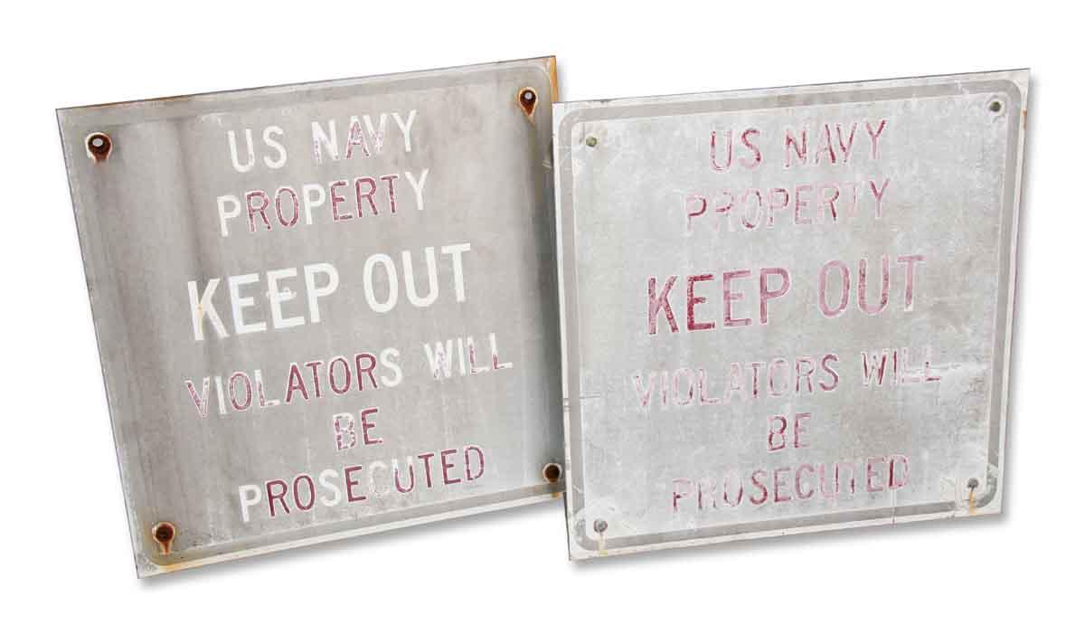 Vintage Navy Sign